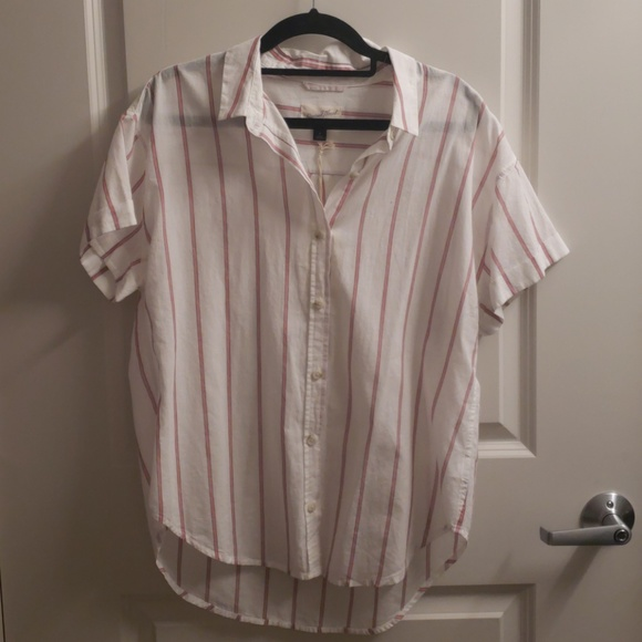 00cf799b19aa82 Universal Thread Tops   Madewellstyle Striped Short Sleeved Button ...